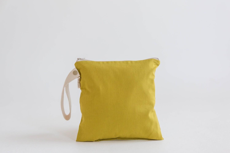 Small Organic Cotton Wet Bag / Desert Grass