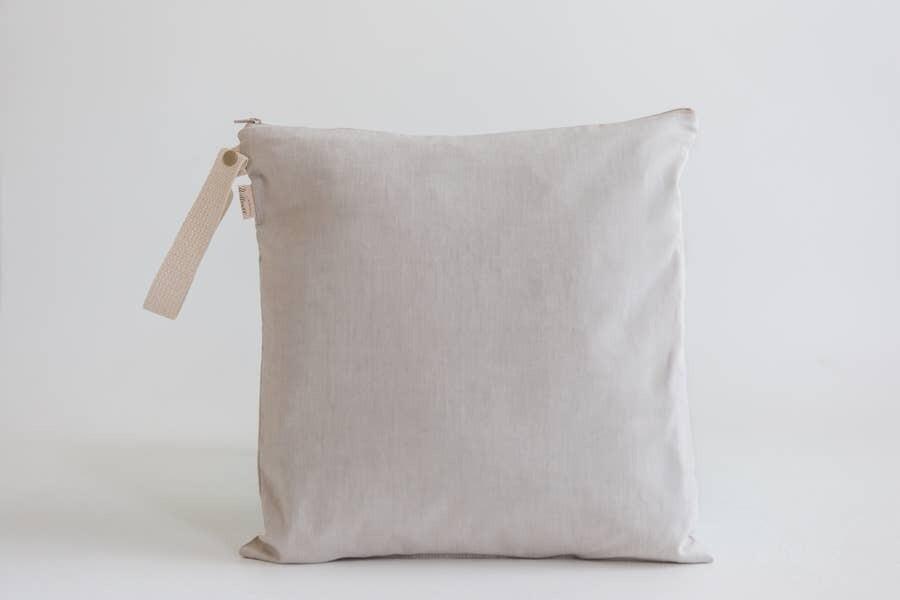 Large Organic Cotton Wet Bag / Pumice