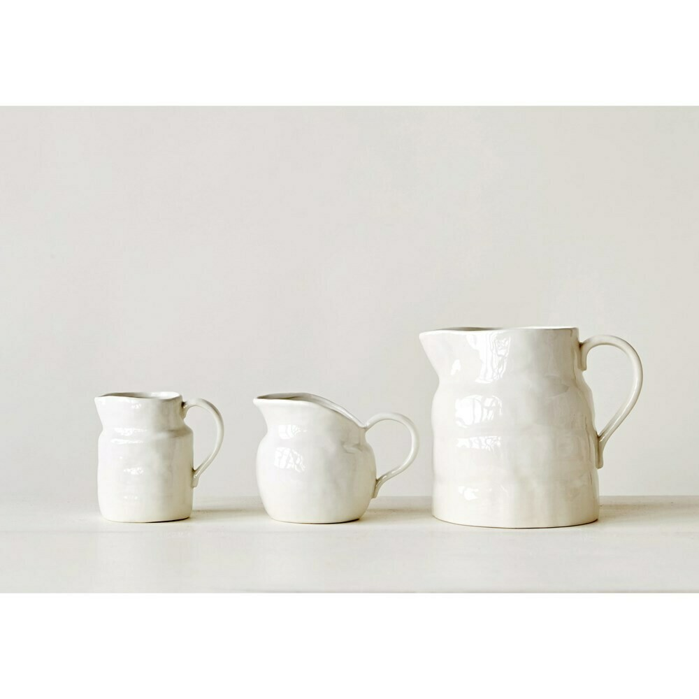 White Vintage Pitcher - Small