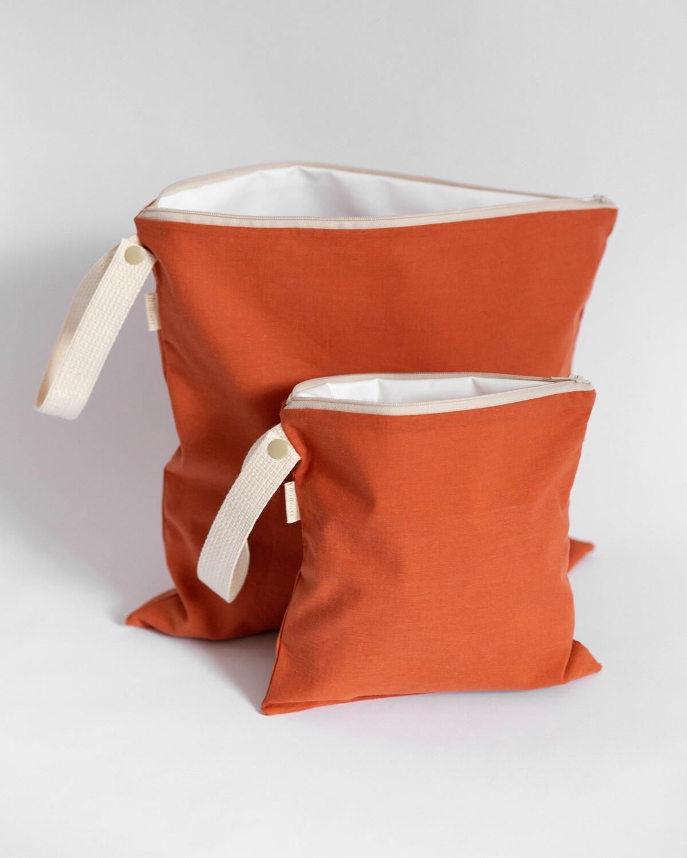 Large Organic Cotton Wet Bag / Terra Cotta