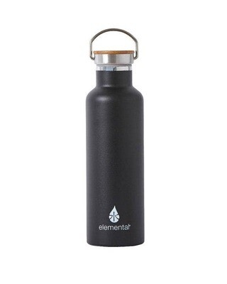 Matte Stainless Water Bottle - Black