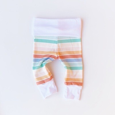 Cotton Leggings - Bloom Stripe