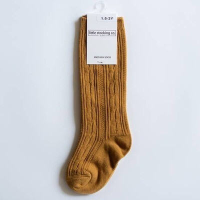 Cable Knit Knee Highs - Various Colors