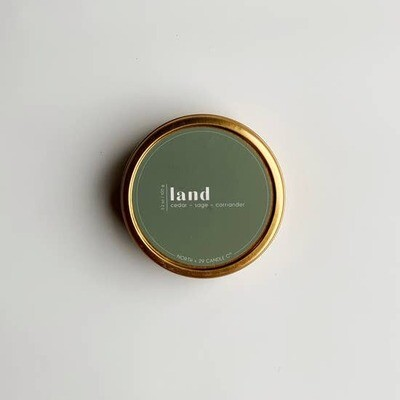 Holiday Candle - Land tin