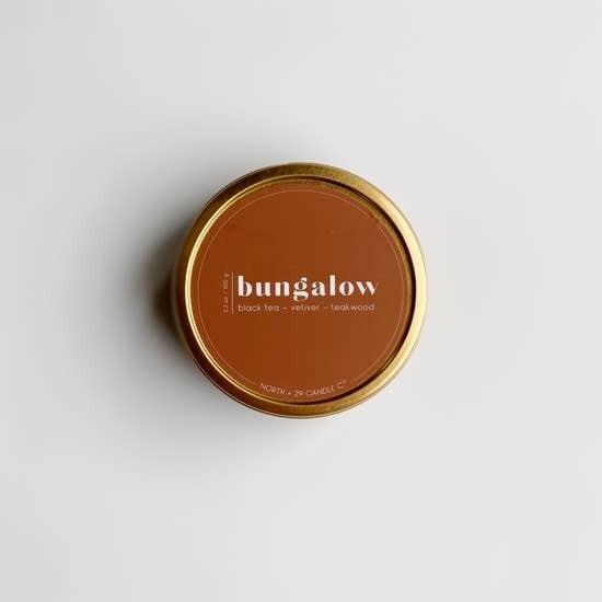 Bungalow Tin Candle