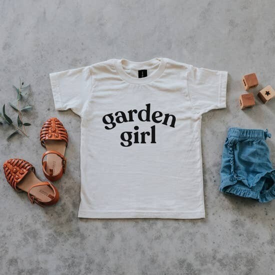 Garden Girl T-Shirt - Organic Natural