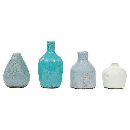 Blue and White Bud Vases