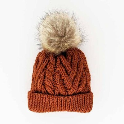Kids Chili Pop Pom Pom Knit Hat