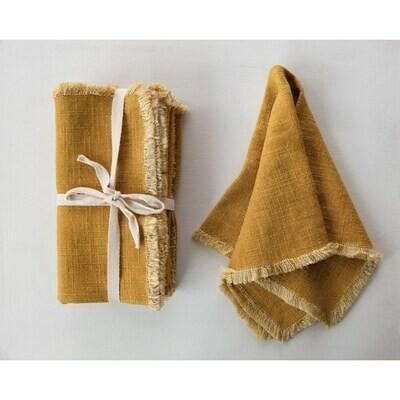 Mustard Linen Napkins
