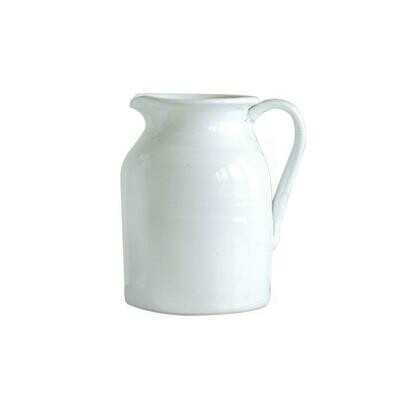 White Terra Cotta Pitcher