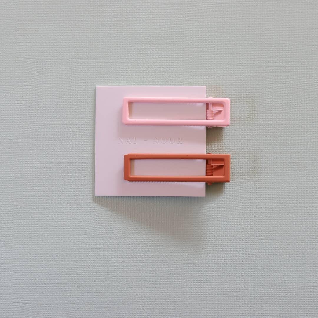 Lu Lu clips in Pink + Orange