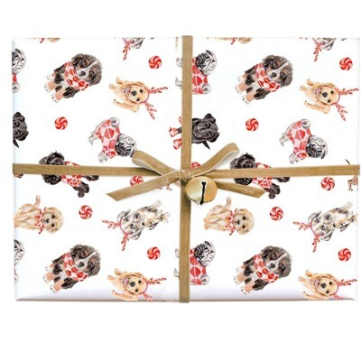 Peppermint Puppies Gift Wrap Roll