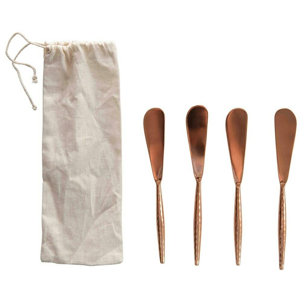 Copper Finish Canape Knives