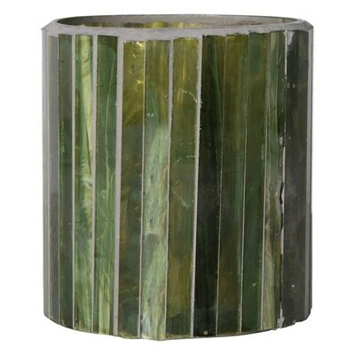 Green Mosaic Glass Tealight Holder