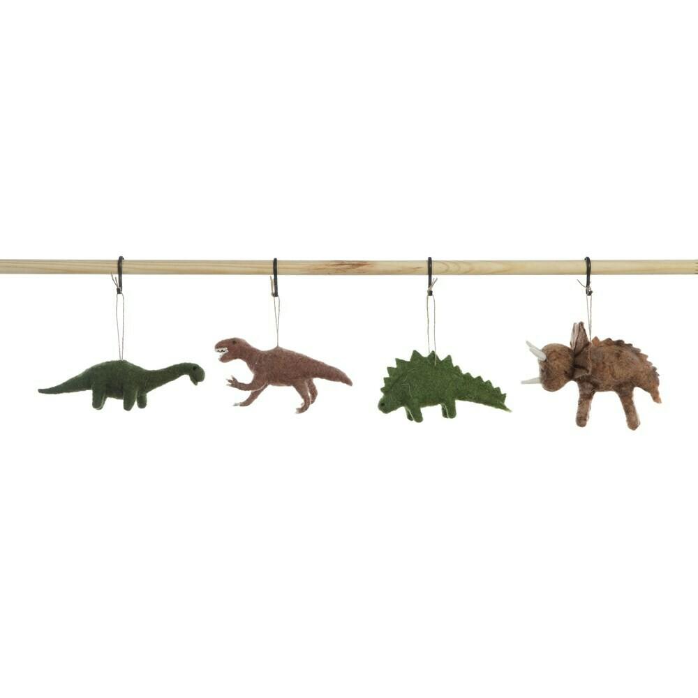 Felt Dinosaur Ornament