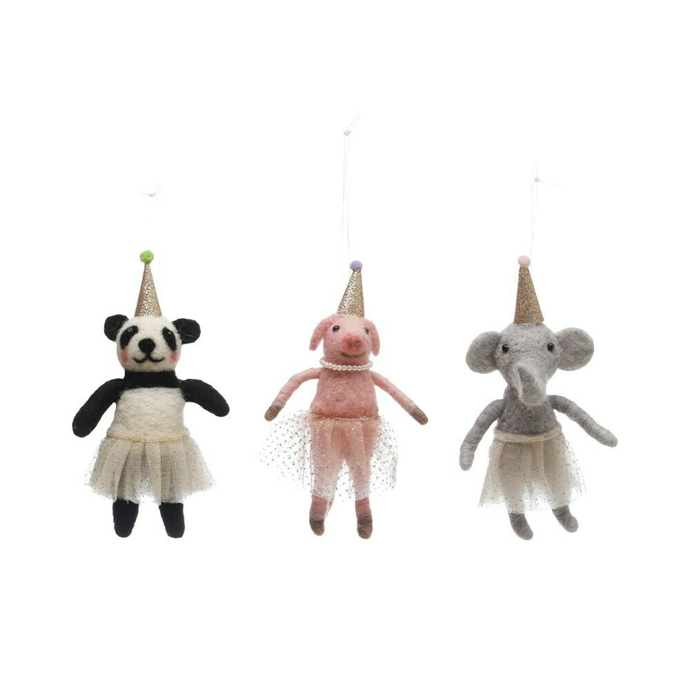 Felt Party Animal Ornament