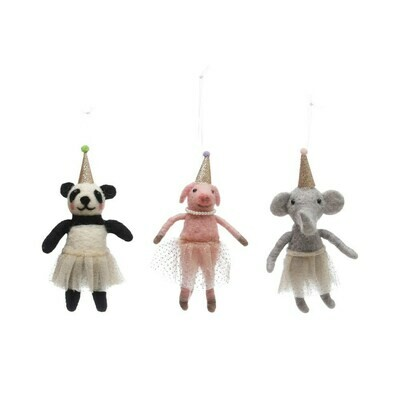 Felt Party Animal Ornament