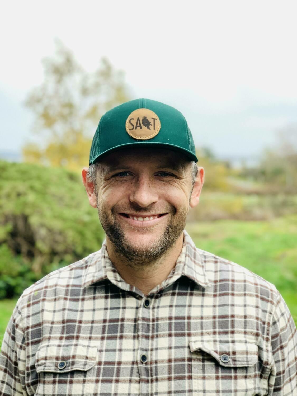 Hunter Green Leather Patch Salt Hat