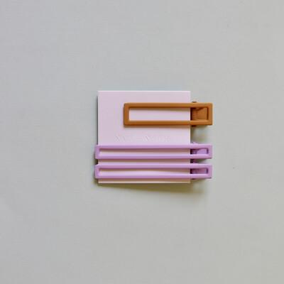 Yarrow Clips In Lilac + Mustard
