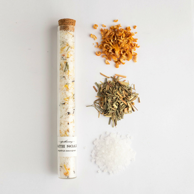 Grapefruit Lemongrass : Bath Soak Test Tube