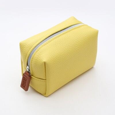 Yellow Mini Cube Cosmetic Bag