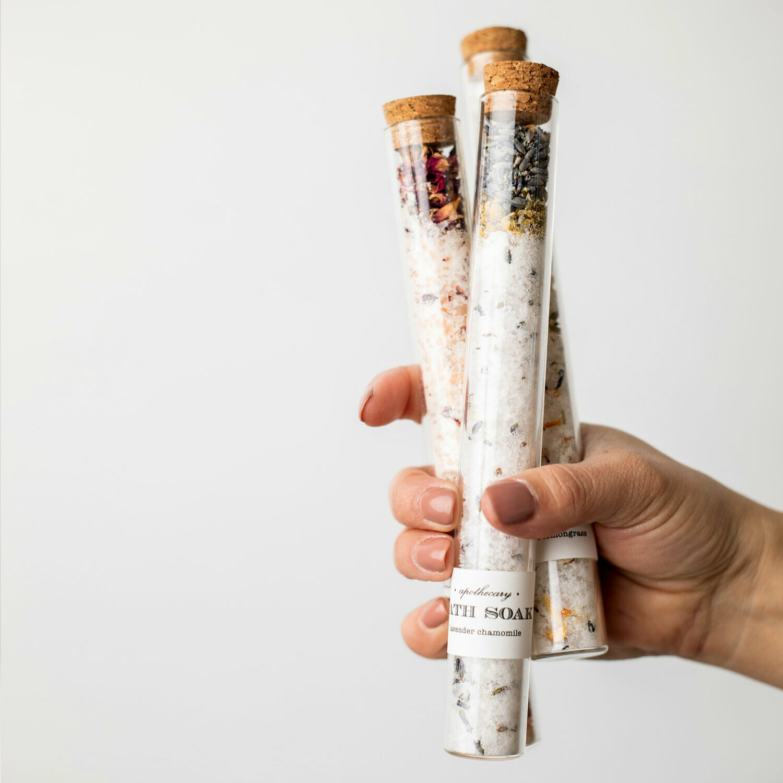 Lavender Chamomile : Bath Soak Test Tube