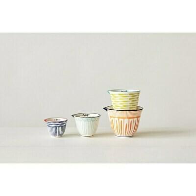 Striped Stoneware Measuring Cups
