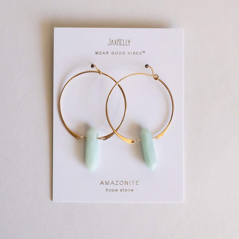 Amazonite Hoop Earring