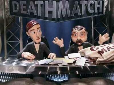Autographed Celebrity Deathmatch Print 1
