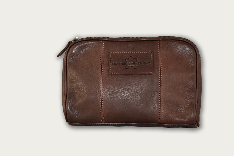Dark Brown Cosmetic Bag / Utility bag COS-201