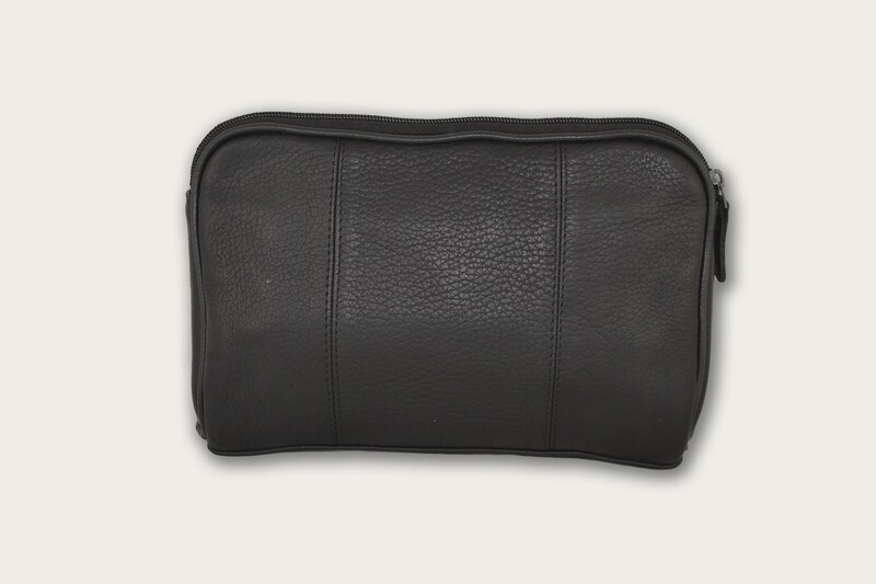 Black Leather Cosmetic bag / Utility Bag  COS-801