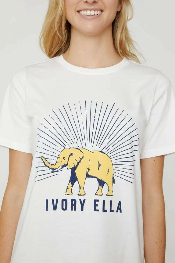 Soft White Varsity Ella Tee S