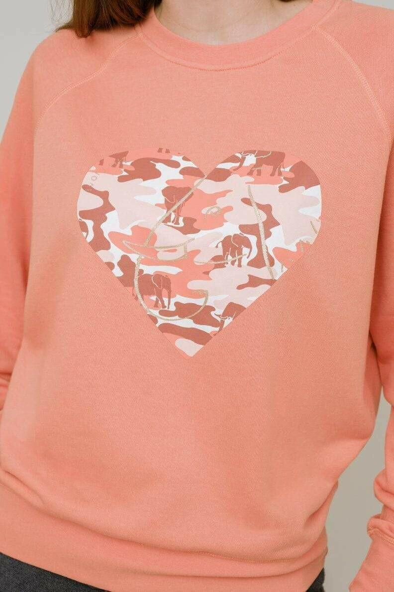 Alissa Heart Sweatshirt L