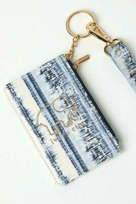 Tie Dye Blue Lanyard Id Holder