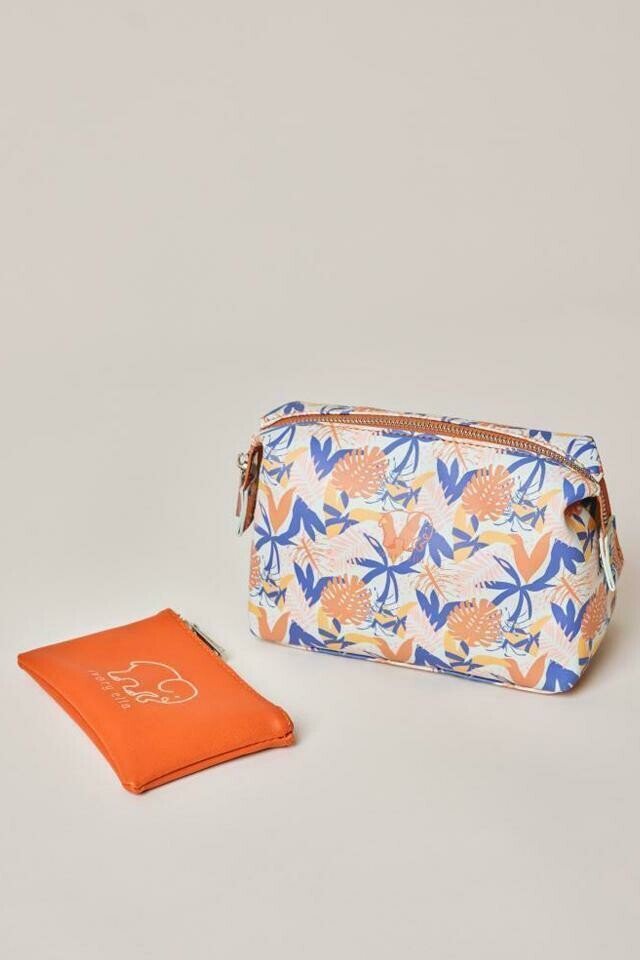 Tropical Leaves Cosmetic Bag