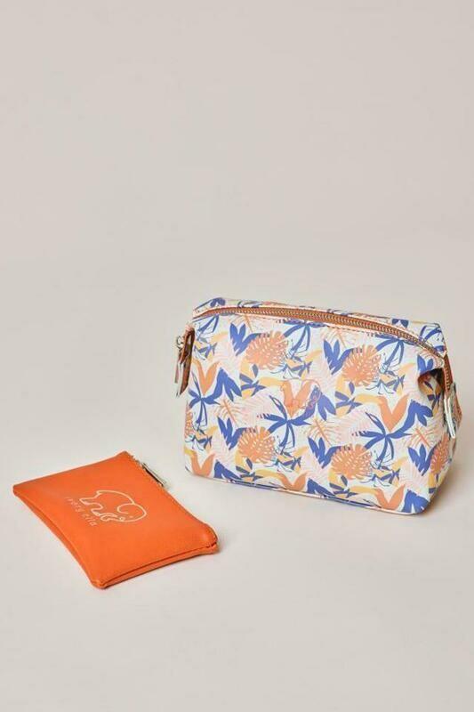 Tropical Leaves Cosmetic Bag