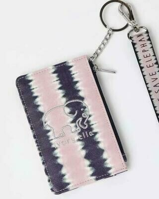 Pink Dye Tye Lanyard Id Holder