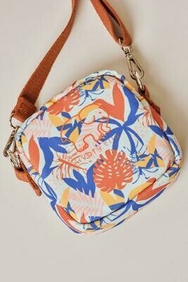 Tropical Leaves Crossbody Bag