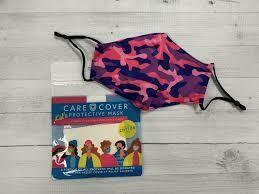 Kids Pink and Purple Camo Mask