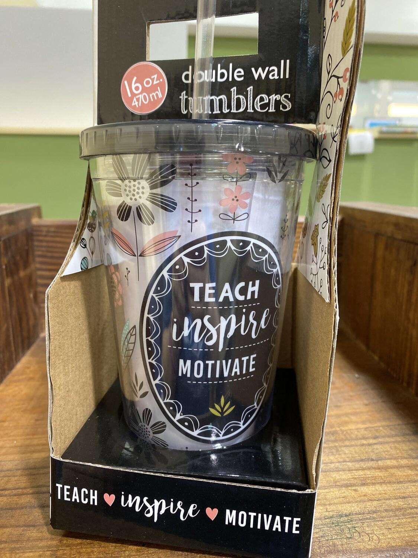 Clear Teach Tumbler