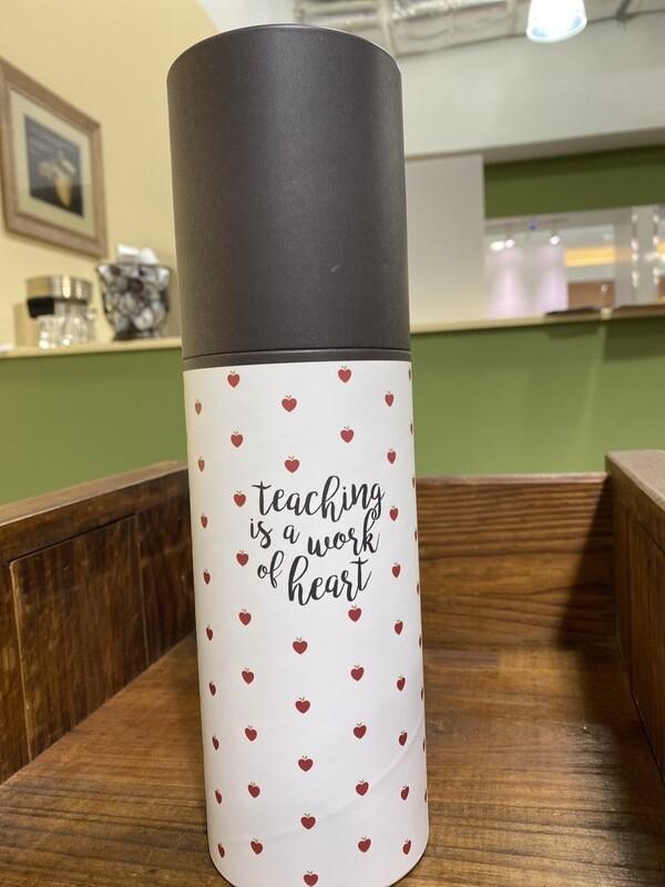 Teacher Work Of Heart Water Bottle