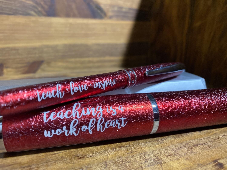 Teach Love Inspire Pen In Case