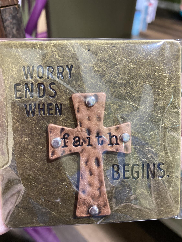 Faith Begins Magnet