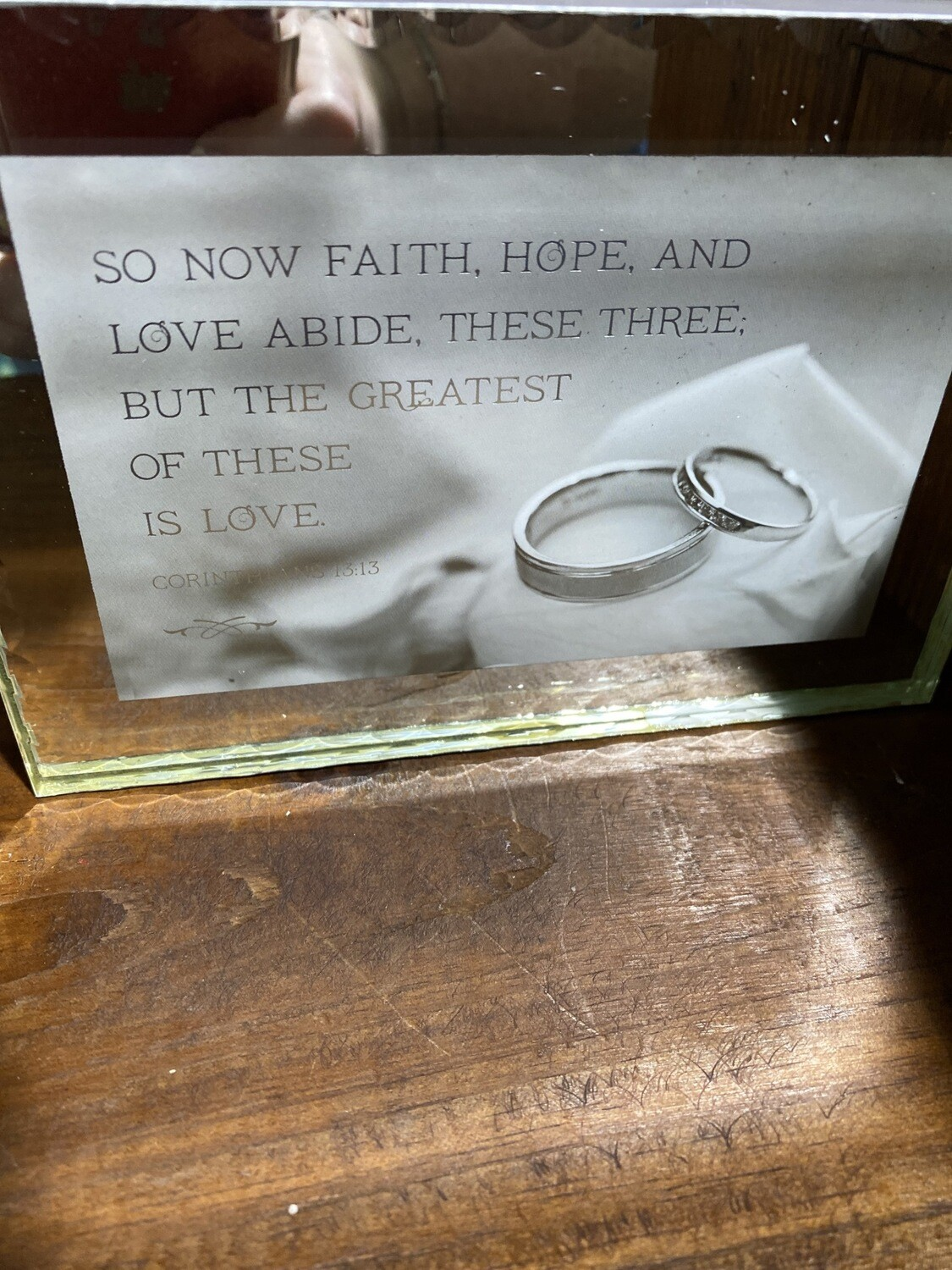 Faith Hope And Love Plaque