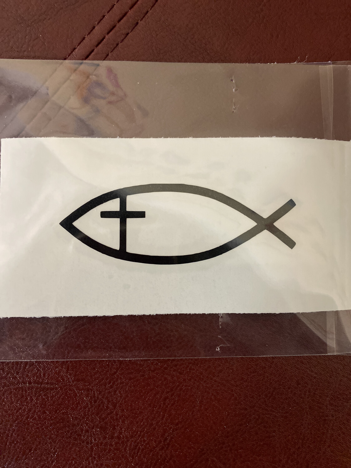 Decal - Fish/Cross