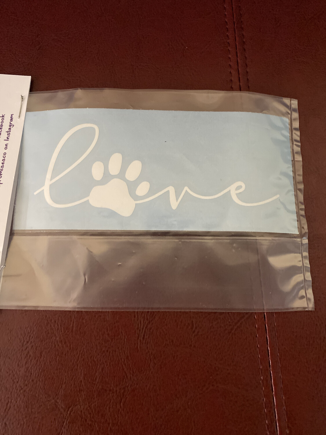 Decal Love Paw Print