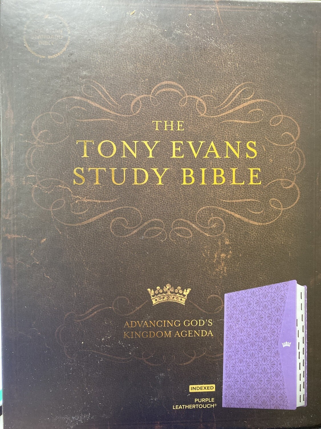 CSB, The Tony Evans Study Bible, Purple Leathertouch, Indexed