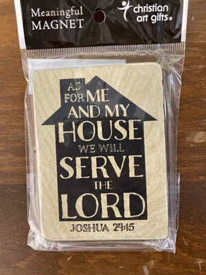 Wooden Serve The Lord Magnet