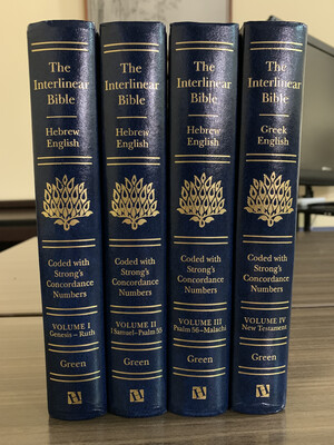 The Interlinear Bible - Set Of 4