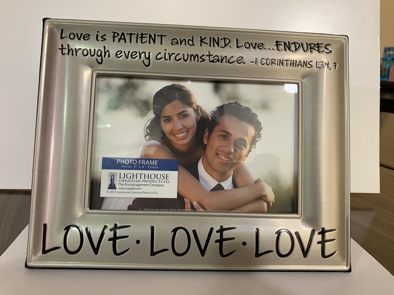 Love Love Love Beveled Frame